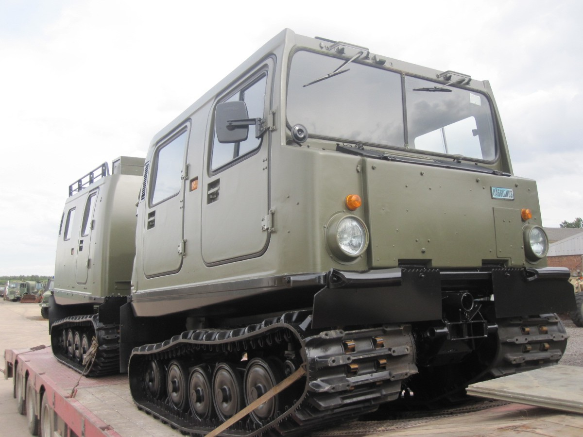 Hagglunds Bv 206 Personnel Carrier (FORD Petrol/Gasolene  v6 petrol engine) The Preparation for shipment/  for sale in Angola, Kenya,  Nigeria, Tanzania, Mozambique, South Africa, Zambia, Ghana- Sale In  Africa and the Middle East