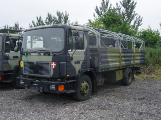 SOLD MAN 13.192F/42 4x2 LHD drop side cargo truck | used military vehicles, MOD surplus for sale