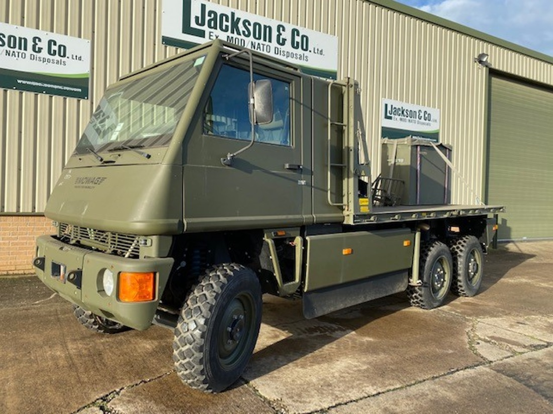 Mowag Duro II 6x6 cargo crane  truck for sale | military vehicles