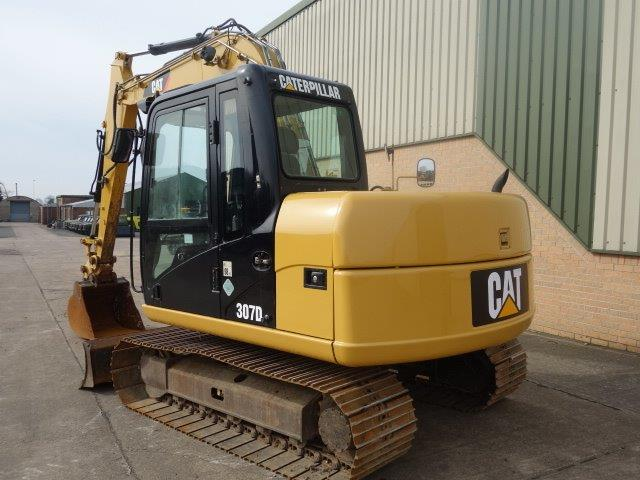 Caterpillar Tracked Excavator 307D  for sale. The UK MOD Direct Sales