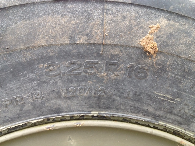 Used 8.25R16 Tyres  for sale. The UK MOD Direct Sales