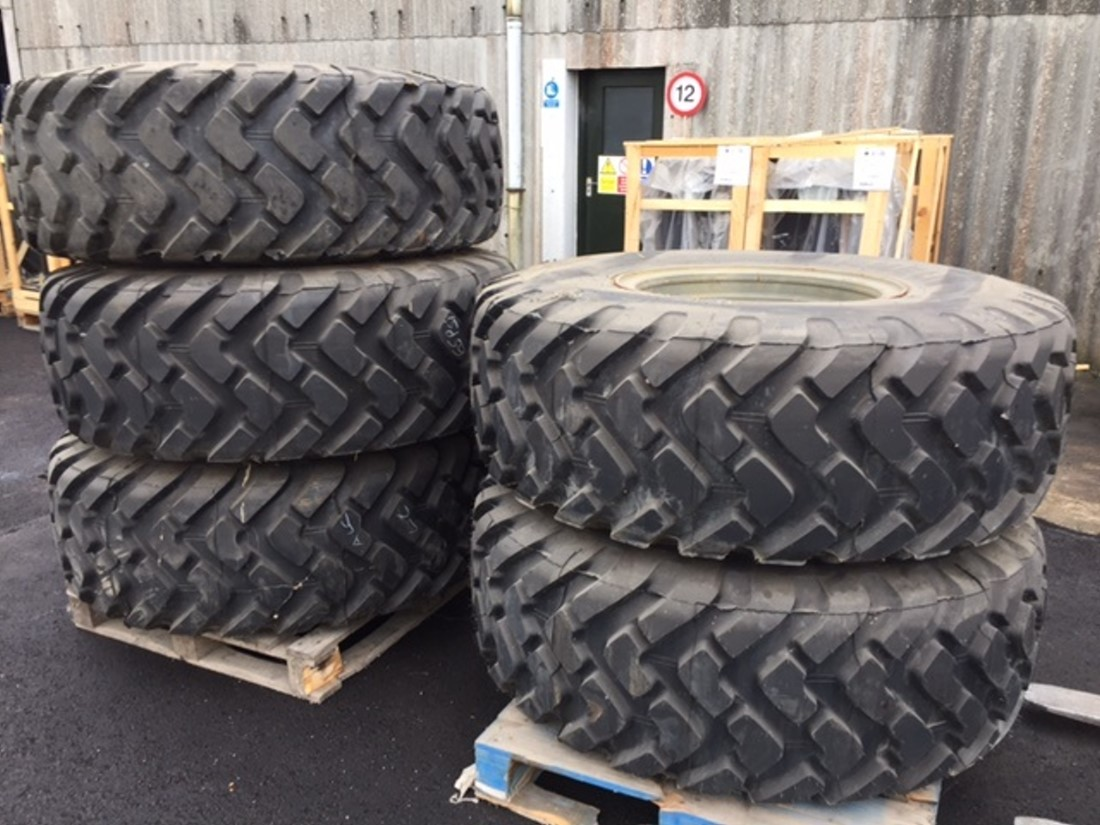 Michelin 20.5R25 XTL unused on rims | Military Land Rovers 90, 110,130, Range Rovers, Mercedes for Sale