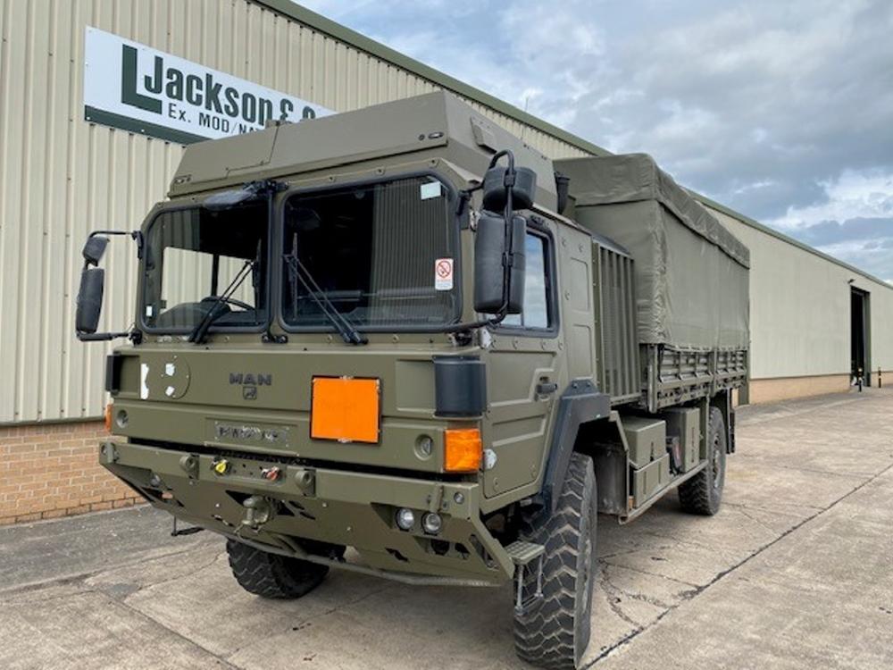 MAN HX60 18.330 4x4 Drop Side Cargo Trucks with Canopy | Конверсионная техника с военного хранения