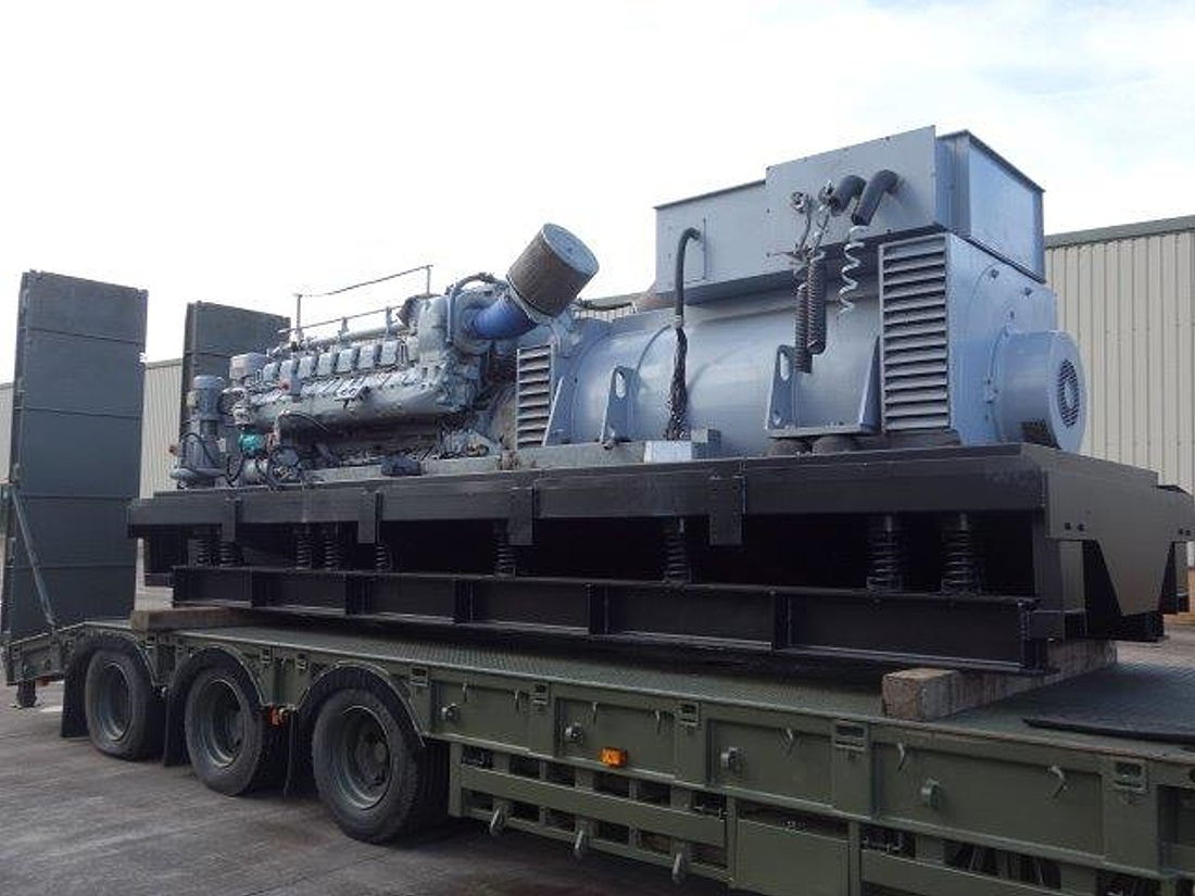 MTU 2500 KVA Generator sets | Military Land Rovers 90, 110,130, Range Rovers, Mercedes for Sale