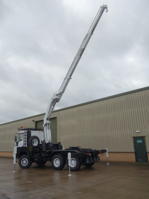 Iveco Eurotrakker 260E37 6x6 LHD tractor with crane 50317 | used military vehicles, MOD surplus for sale