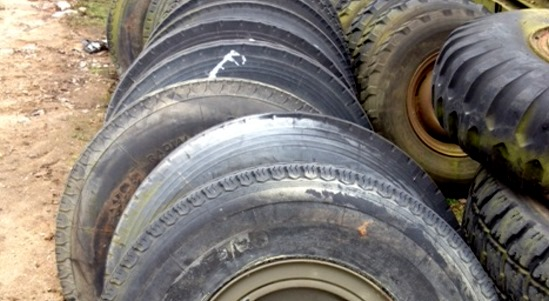 Used 8.25R16 Tyres  (MOD and NATO Disposals)