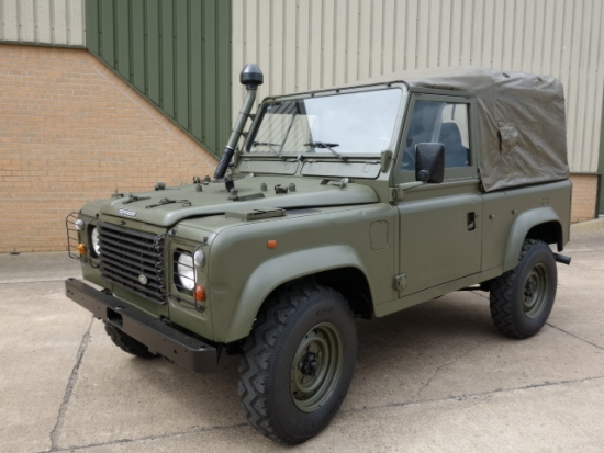 WAS SOLD Land Rover defender 90 LHD Wolf soft top ex.army