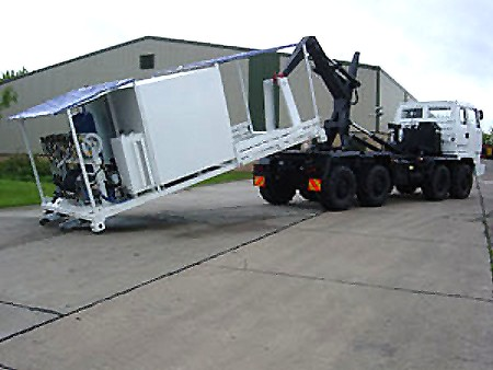 Leyland DAF 8x6 hook lift system with lube unit | used military vehicles, MOD surplus for sale