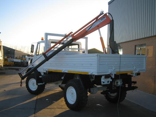 Mercedes Unimog U1300L crane truck |  EX.MOD direct sales