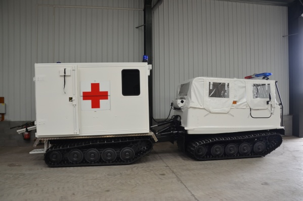 Hagglunds Bv206  soft top ambulance |  EX.MOD direct sales