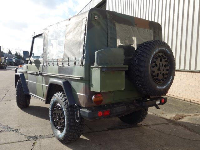 Mercedes Benz G wagon 250 Wolf  for sale. The UK MOD Direct Sales