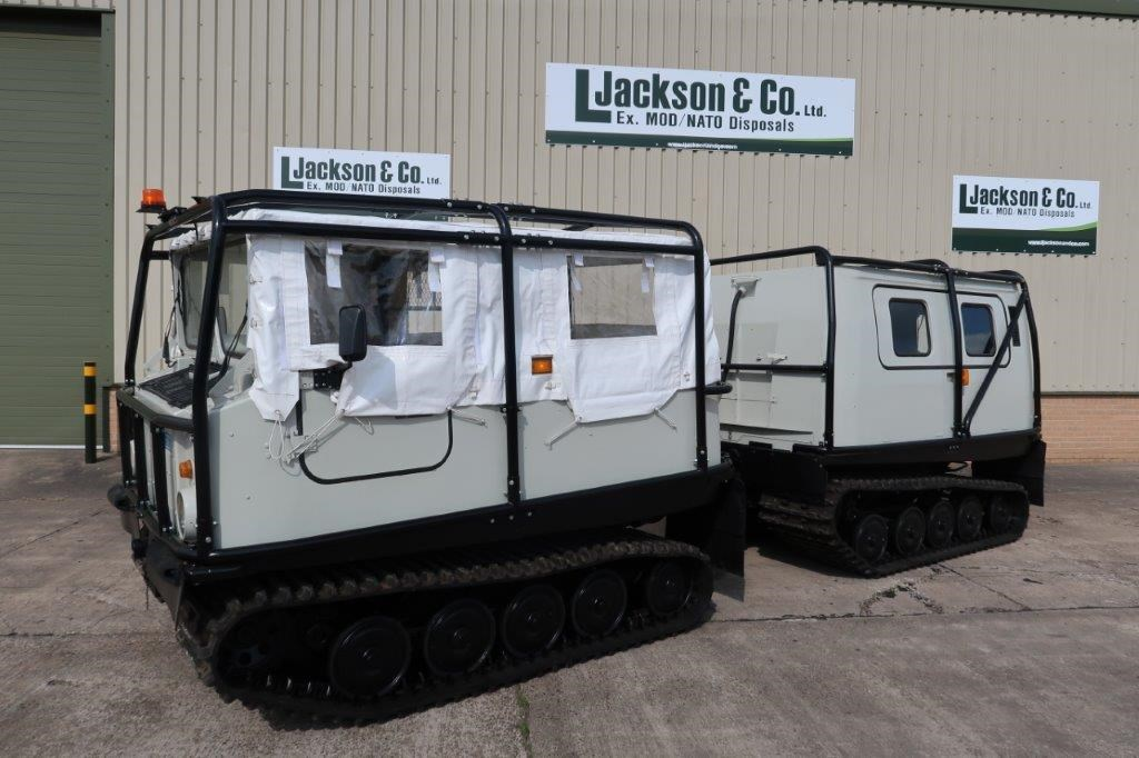 Hagglund BV 206 Soft Top Personnel Carrier With Roll Cage | used military vehicles, MOD surplus for sale