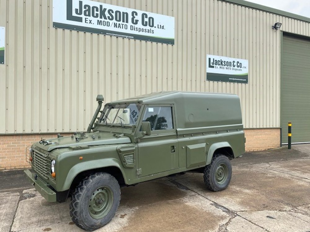 Just arrived a rare Land rover 110 Wolf REMUS