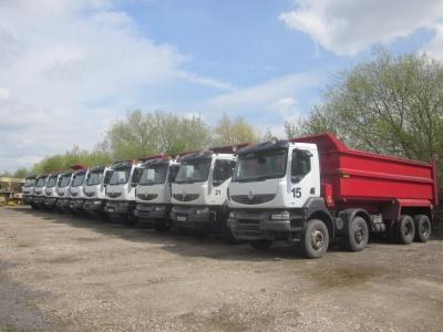 8 Renault Kerax 8x4 RHD tipper trucks