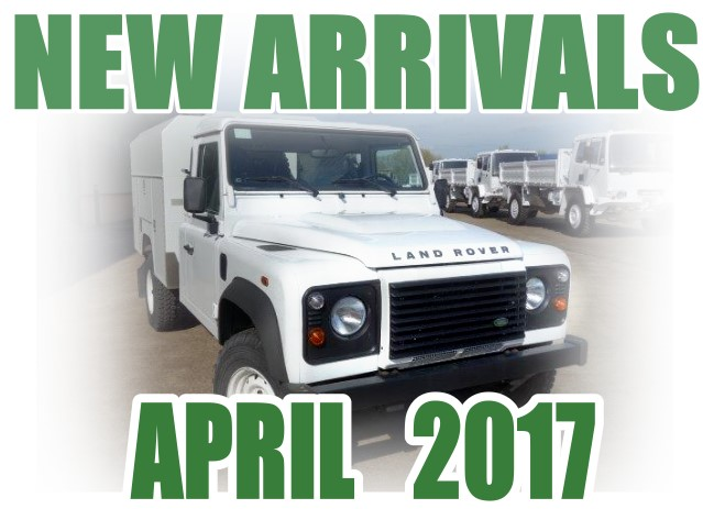 Just arrived 2x New Land Rover 130 LHD Maintenance vehicles and  New Land Rover 130 RHD chassis cab