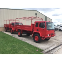 Finished in red these trucks