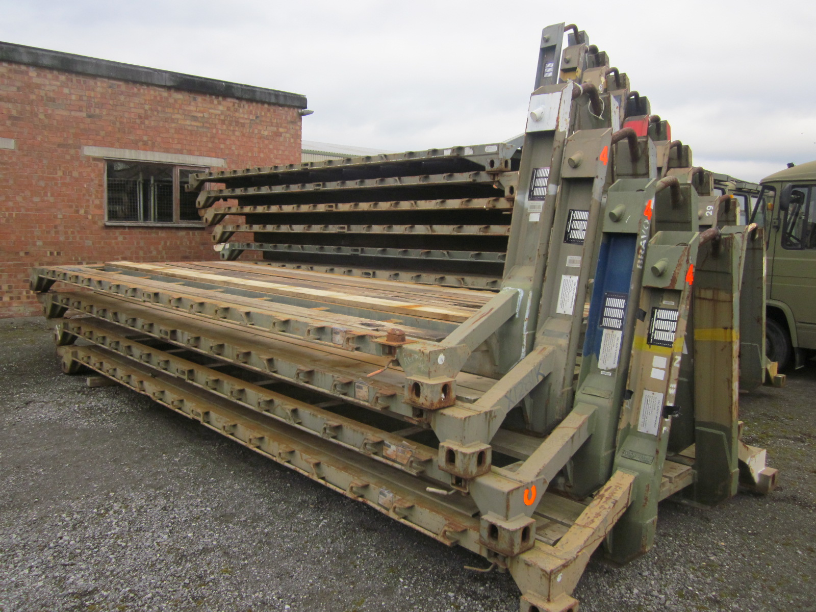 Was sold 3x DROPS body - 20ft ISO Reynolds boughton flat rack