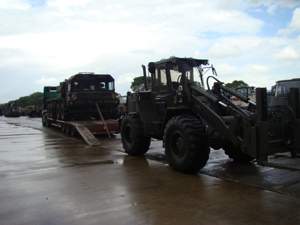 Unloading Faun Military SLT50-2  8x8 Tractor EX.MOD Truck/  for sale in Angola, Kenya,  Nigeria, Tanzania, Mozambique, South Africa, Zambia, Ghana- Sale In  Africa and the Middle East