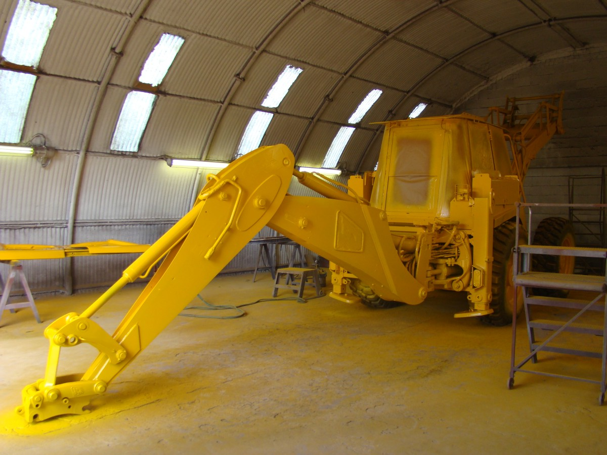 JCB 4CX M in the paint shop