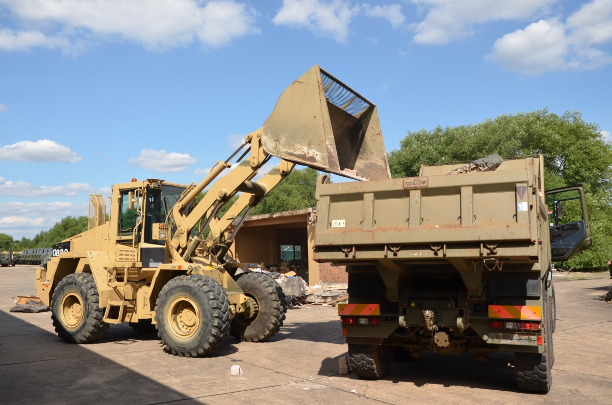 CASE 721 CXT   army  wheeled loading shovel/ MOD NATO Disposals/ for sale and export