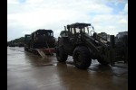 Unloading Faun Military SLT50-2  8x8 Tractor EX.MOD Truck