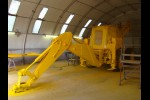 JCB 4CX M in the paint shop/ MOD NATO Disposals/ for sale and export