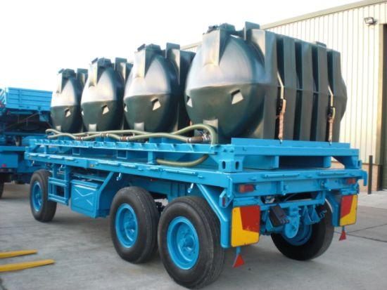 Schmitz 10.000 lt draw bar tanker trailer for sale