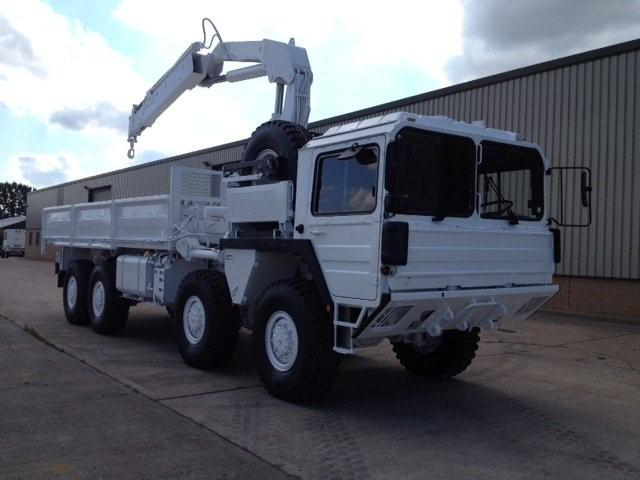 Man 8x8 CAT A1 cargo truck with HIAB Crane