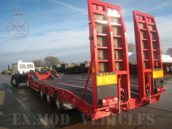 WAS SOLD King GTS 48 semi low loader trailer