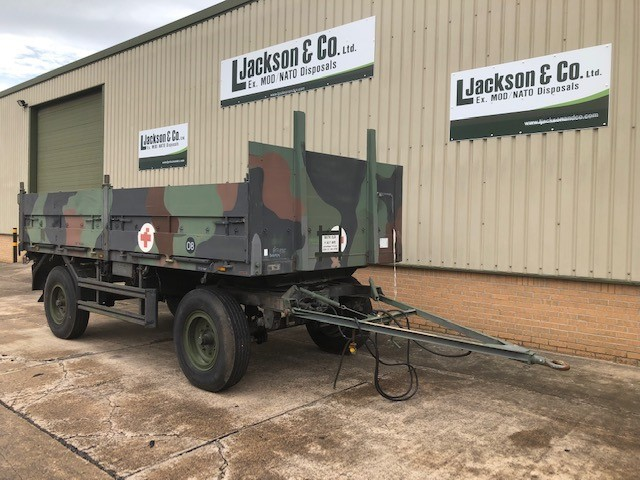 Schmitz 2 Axle Draw Bar Cargo Trailer for sale | military vehicles