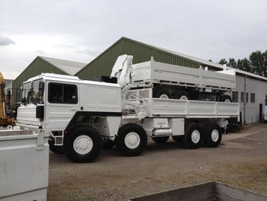 Man 8x8 CAT A1 cargo truck with HIAB Crane | used military vehicles, MOD surplus for sale