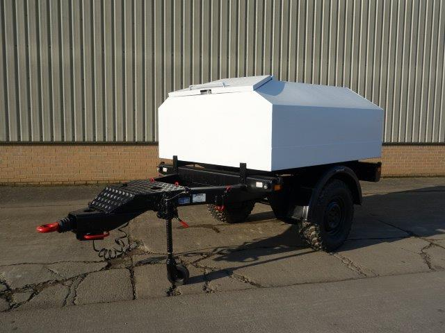 WAS SOLD Trailer tanker with new 1500 litre bunded tank