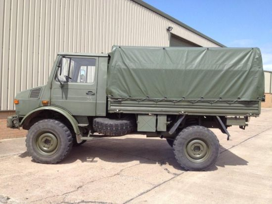 Mercedes unimog U1300L troop carrier / shoot vehicle 4x4  for sale . The UK MOD Direct Sales