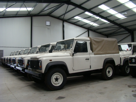 WAS SOLD New Land Rover Defender 110 pick up  Puma with a/c   (LHD)