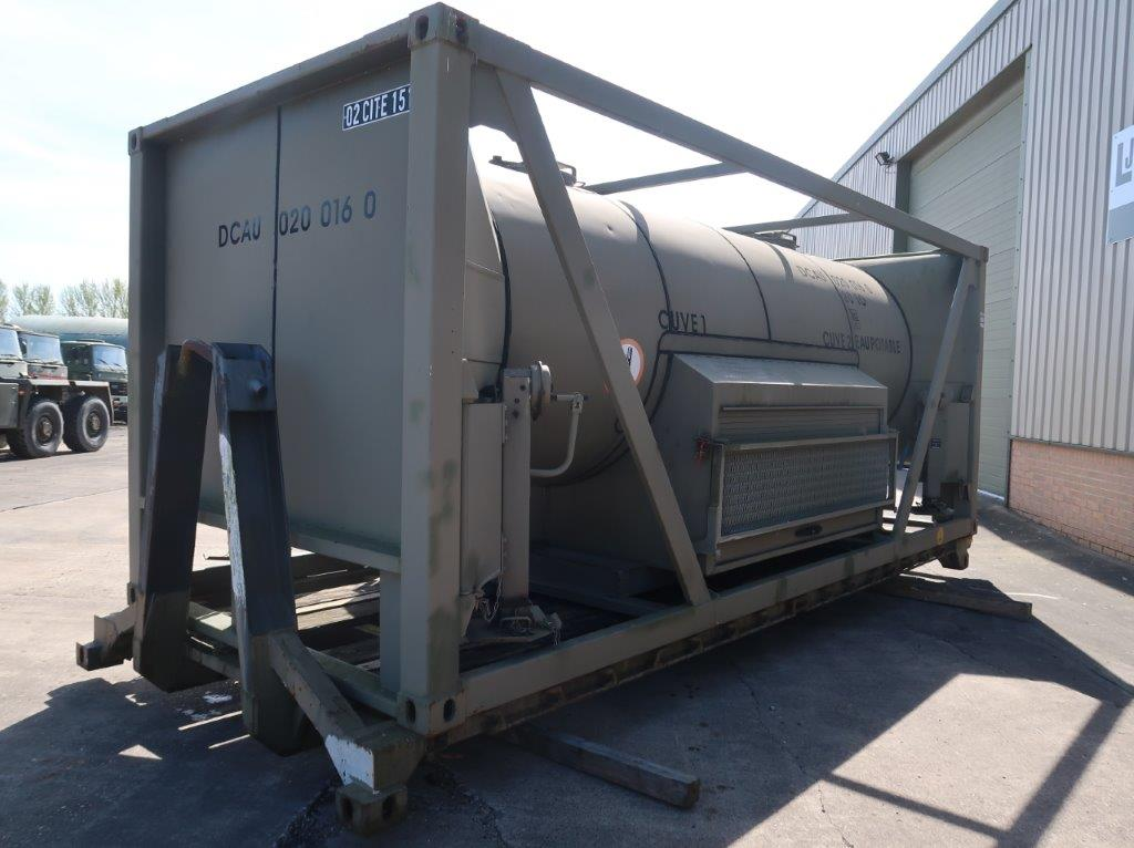 20FT ISO Potable Water Tank Containers  with flat rack for sale