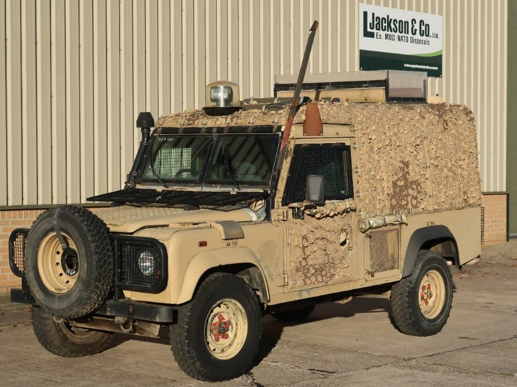 Armoured Land Rover Snatch 2A  Defender 110 300TDi | used military vehicles, MOD surplus for sale