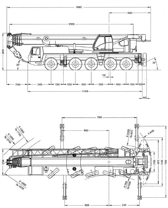 Grove GMK 5130 130 ton 5 axle all terrain military crane  military for sale