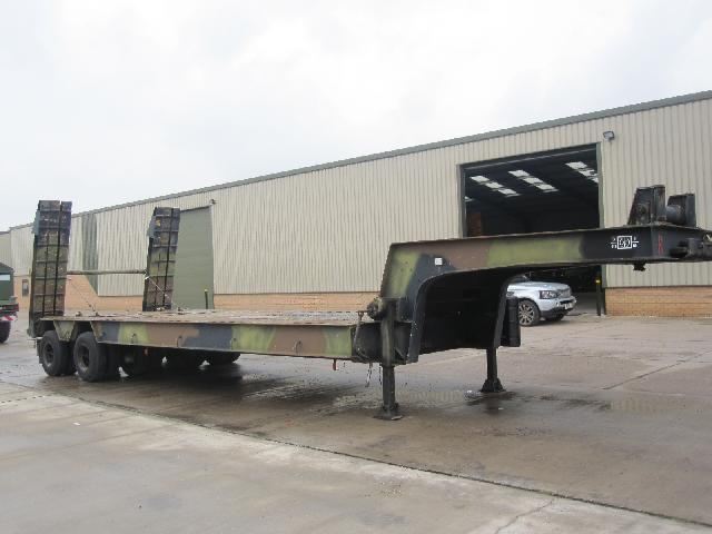 Nicolas 45,000 kg EX.MOD tank transporter trailer  for sale. The UK MOD Direct Sales