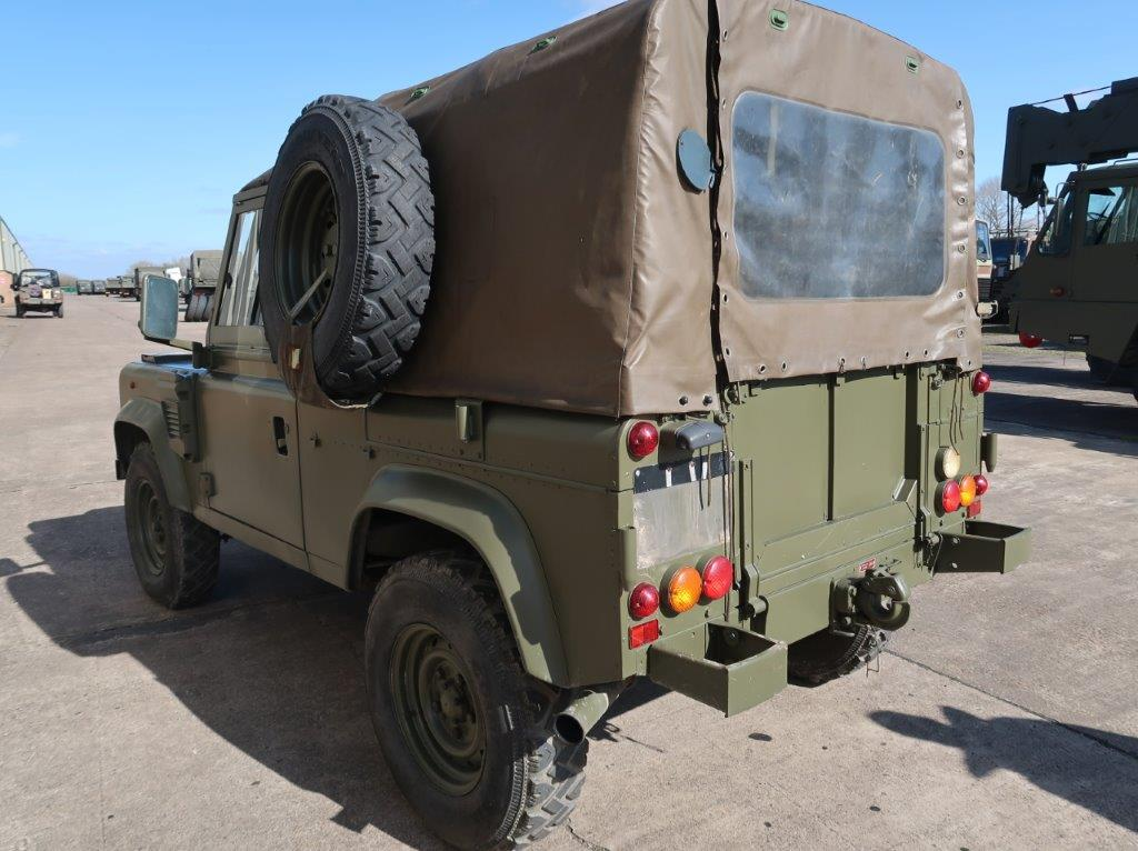 Rare Land Rover Defender 90 Wolf Airportable variant RHD   used military vehicles, MOD surplus for sale