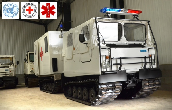 Hagglunds Bv206  soft top ambulance for sale