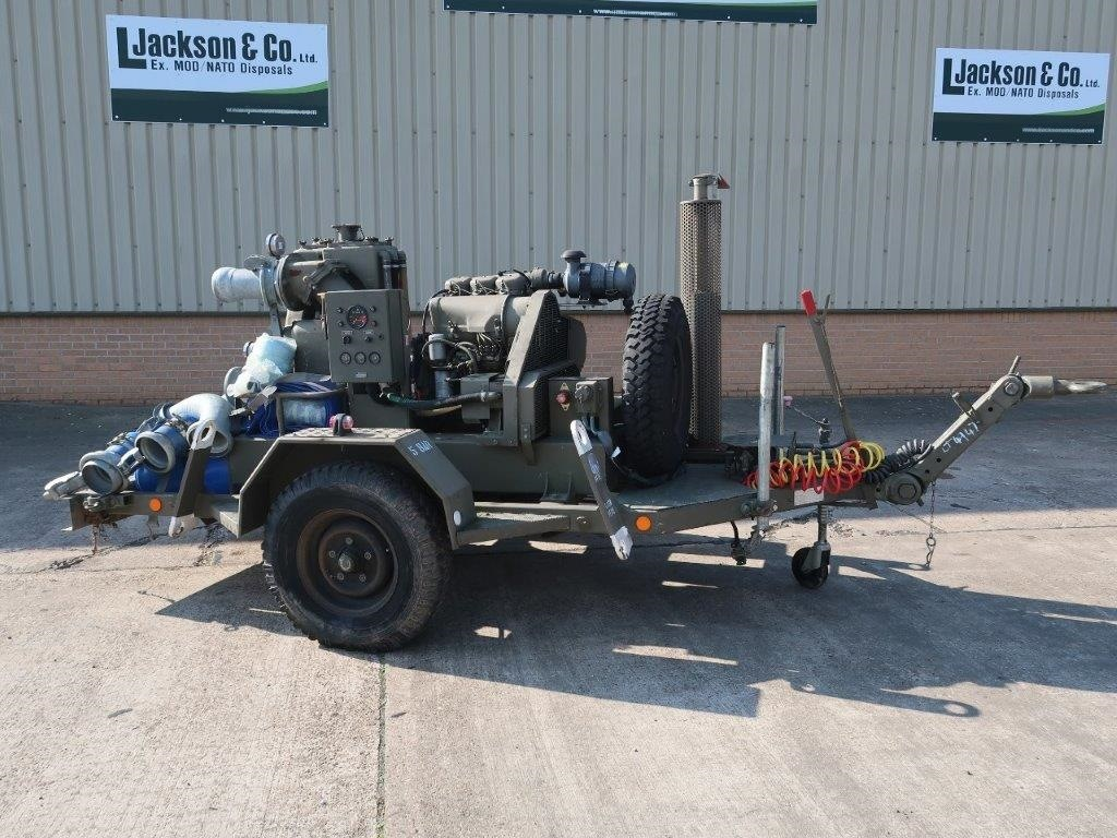 WAS SOLD Gilkes 6 inch Water Pump Trailer