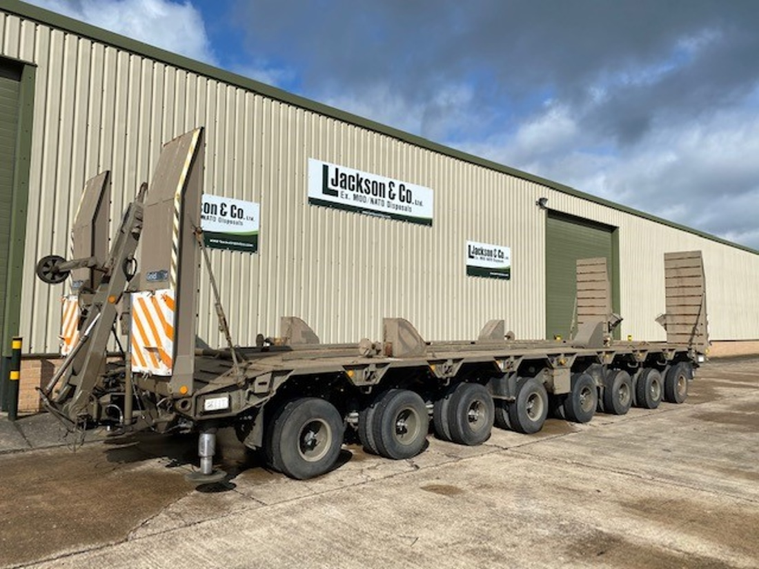 Goldhofer 8 Axle Low Loader Trailers for sale | military vehicles