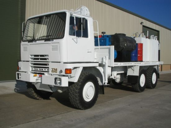 Bedford TM 6x6 Lube Truck with Atlas 3500kg hydraulic crane  for sale . The UK MOD Direct Sales