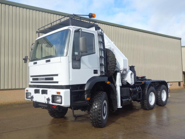 WAS SOLD Iveco 260E37 eurotrakker 6x6 tractor unit with HMF crane