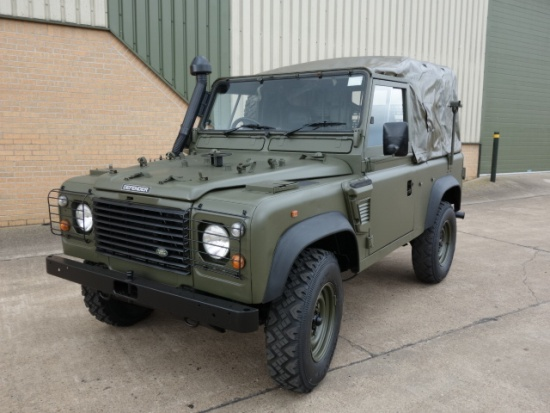 Land rover 90 RHD wolf (Soft Top) ex.army | used military vehicles, MOD surplus for sale