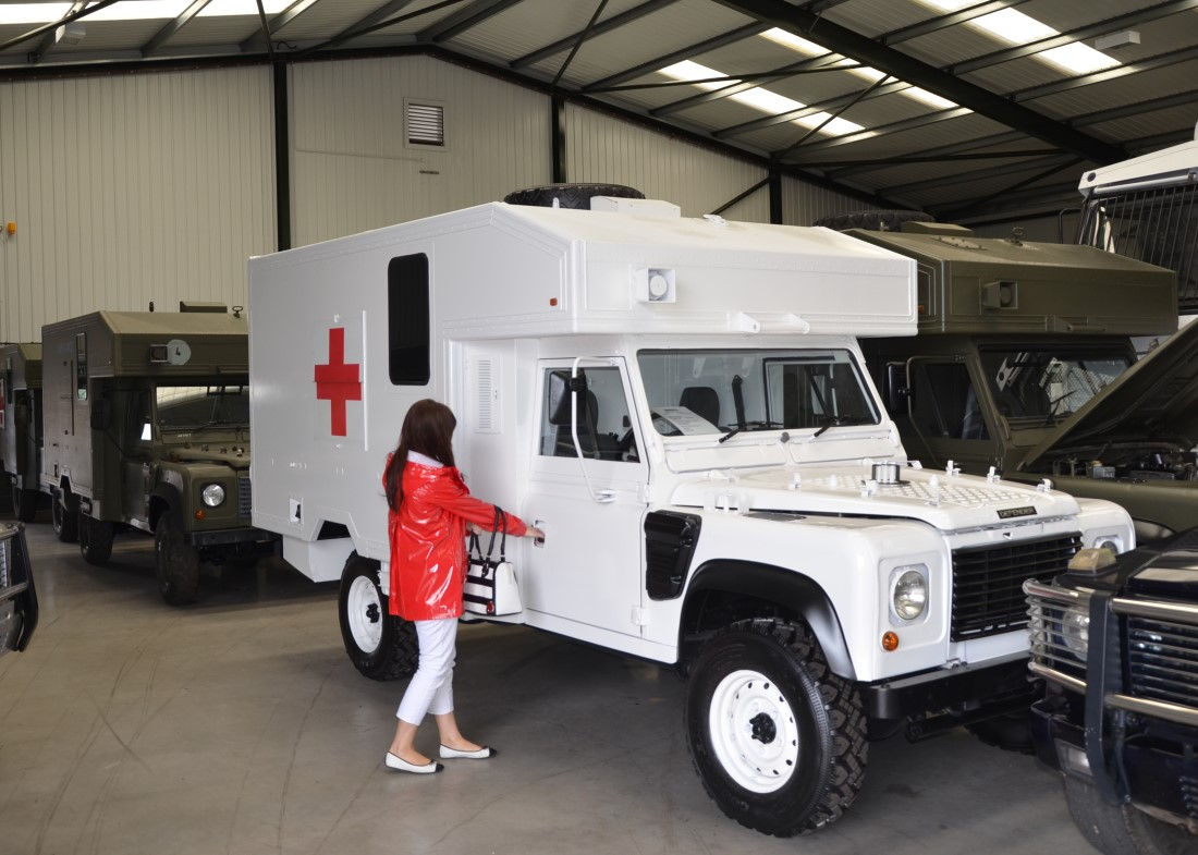 Land Rover 130 Defender Wolf RHD Ambulance for sale | military vehicles