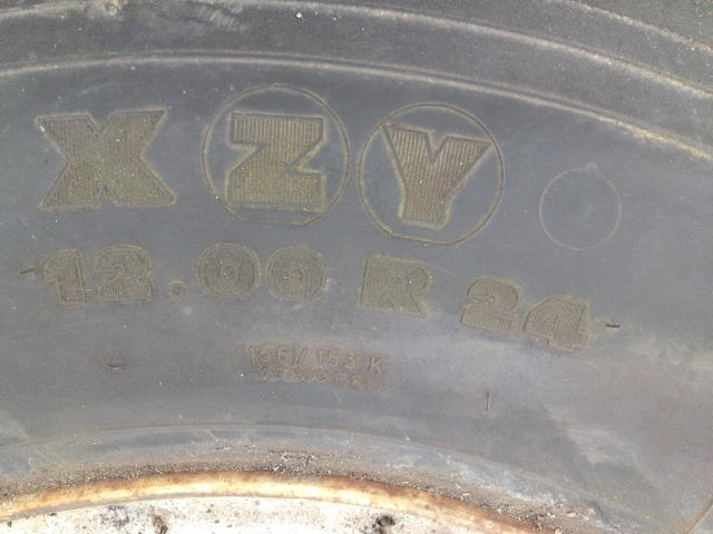Unused Michelin 12.00R24 XZY | used military vehicles, MOD surplus for sale