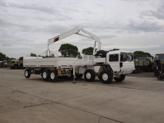 Man 8x8 CAT A1 cargo truck with HIAB Crane  for sale. The UK MOD Direct Sales