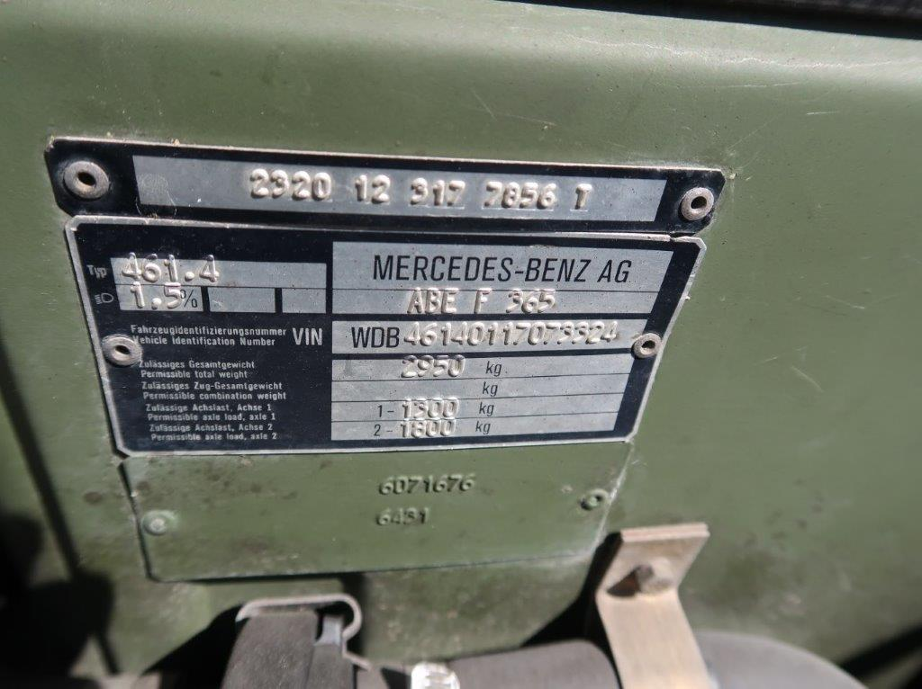 Mercedes Benz G Wagon 250 Soft Top  military for sale