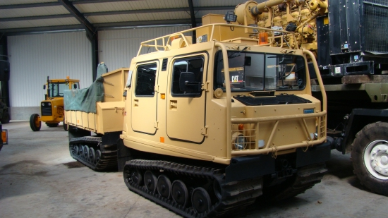 Hagglunds BV206 Cargo Carrier & crane Hiab (Amphibious) | used military vehicles for sale